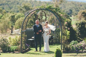Wayval View Garden What a spectacular arrival for father and daughter.